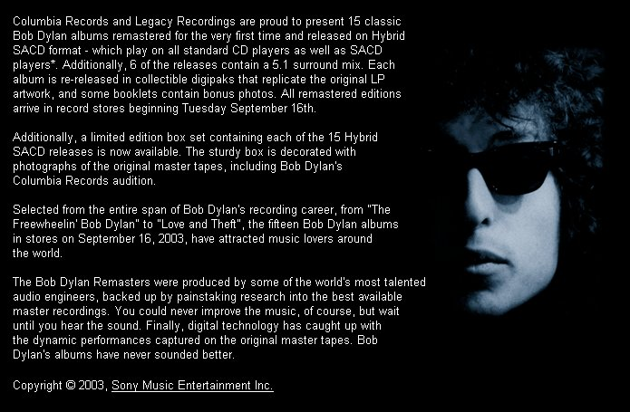 Bob Dylan Revisited: The Remasters